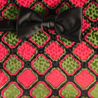 bow tie red, green, black - patterned, design 200086