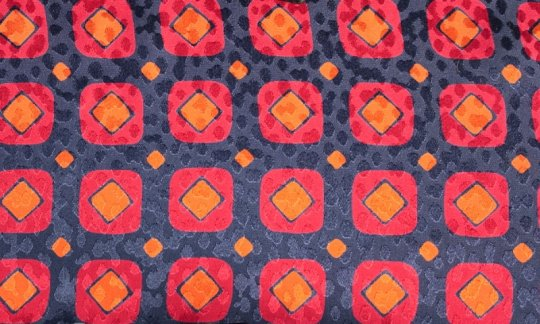tie red, blue, navy-blue, orange - squares, design 200087