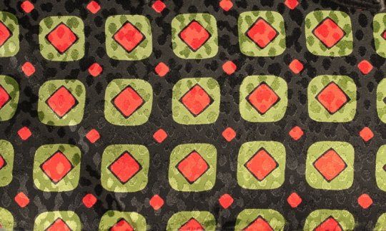 cummerbund red, green, black - squares, design 200090