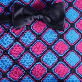 bow tie red, blue, black - squares, design 200092