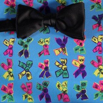 bow tie yellow, green, blue, navy blue - motives, design 200097