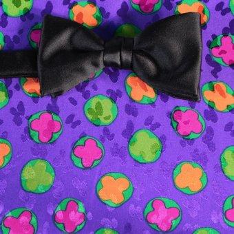 bow tie yellow, green, purple, violet - flowers, design 200099