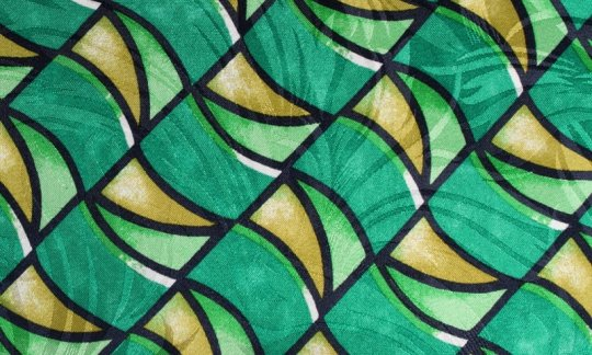 tie yellow, green, black, white - patterned, design 200104
