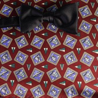 bow tie blue, red wine - motives, design 200107