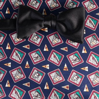 bow tie navy-blue, red - motives, design 200109