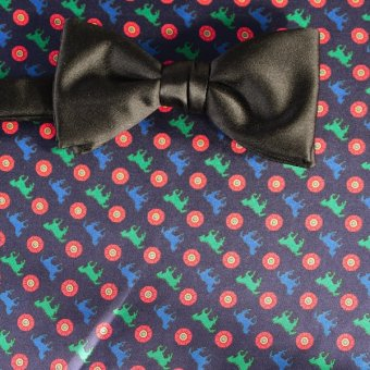 bow tie red, green, blue, navy blue - motives, design 200110