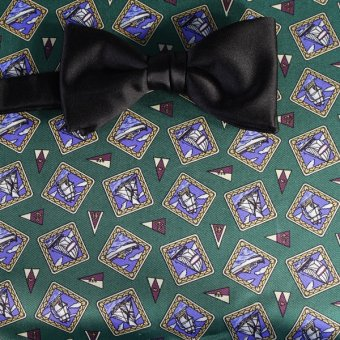 bow tie green, blue, violet - motives, design 200112