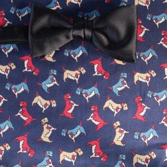 bow tie navy-blue - motives, design 200124