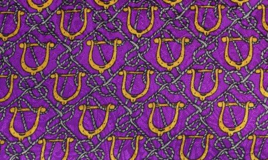 silk scarf yellow, gold, violet - motives, design 200130