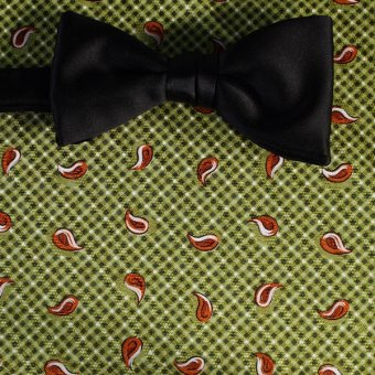 bow tie red, green, white - paisley, design 200141
