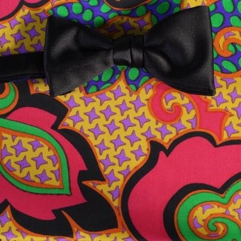 bow tie red, yellow, green, blue, black, violet - patterned, design 200144