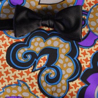 bow tie silver, gold, blue, violet - patterned, design 200145