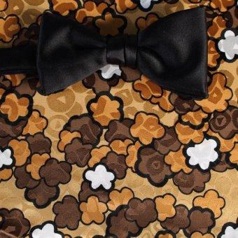 bow tie gold, white, brown, orange - flowers, design 200149