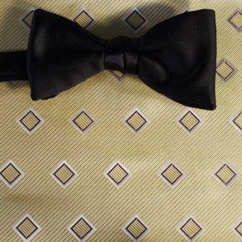 bow tie yellow - squares, design 200157