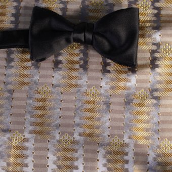 bow tie silver, gold - patterned, design 200161