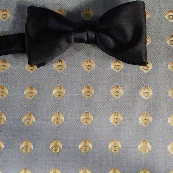 bow tie gold - squares, design 200166