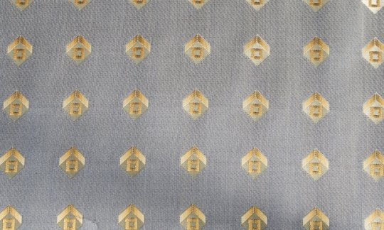 silk scarf gold - squares, design 200166