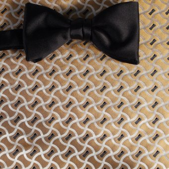 bow tie silver, gold, black - patterned, design 200172