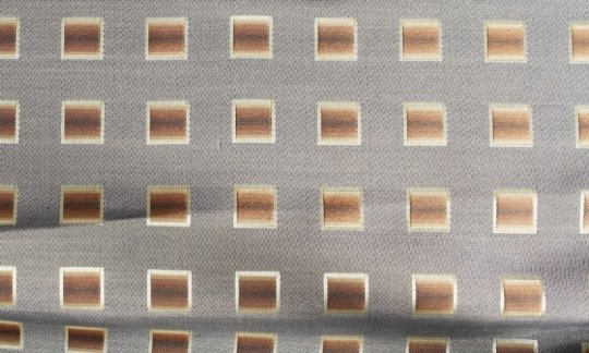 tie yellow, brown, cream - squares, design 200173