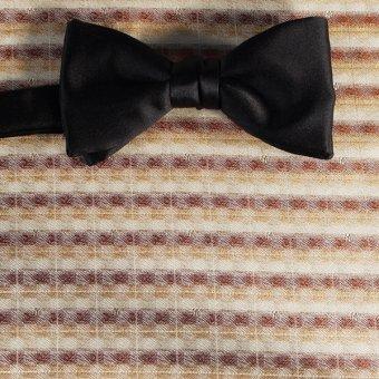 bow tie gold, brown, cream - stripes, design 200178