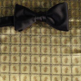 bow tie gold, black - squares, design 200180