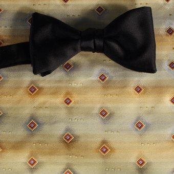 bow tie gold, terracotta - squares, design 200181