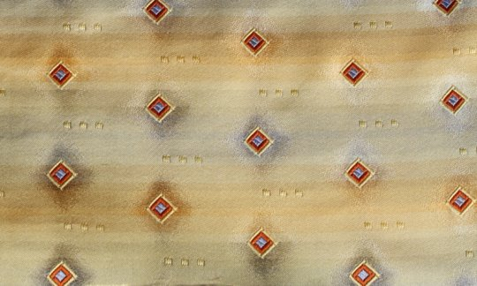 tie gold, terracotta - squares, design 200181