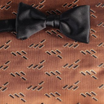 bow tie brown, terracotta - patterned, design 200184