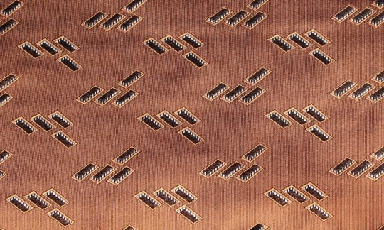 plastron brown, terracotta colored - patterned, design 200184