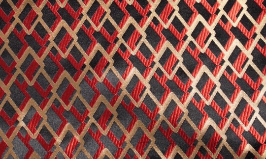 plastron black, red, gold - patterned, design 200187