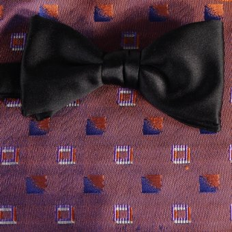 bow tie red, navy blue, red wine, terracotta - squares, design 200196