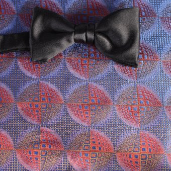 bow tie red, blue, red wine - patterned, design 200207