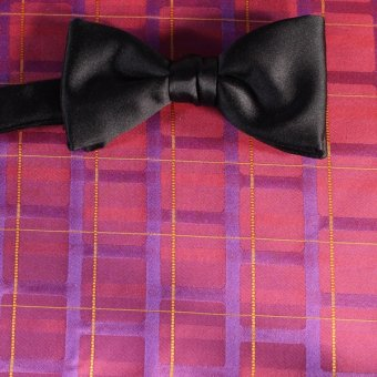 bow tie red, yellow, purplec, red wine, violet - stripes, design 200212