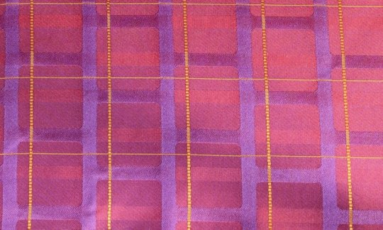 silk scarf red, yellow, purplec, red wine, violet - stripes, design 200212