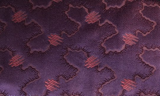 plastron ruby-colored, violet - tone in tone, design 200215