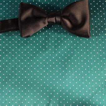 bow tie green, silver, turquoise - polka dot, design 200220