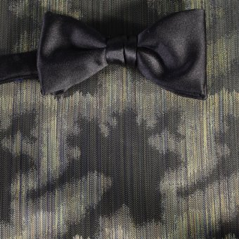 bow tie green, gold - patterned, design 200228