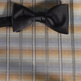 bow tie silver, gold - stripes, design 200233