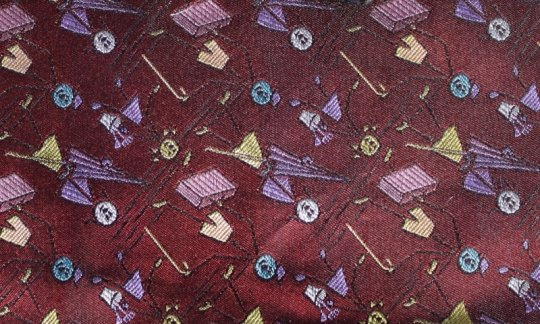 plastron purplec, red wine, pink - flowers, design 200240