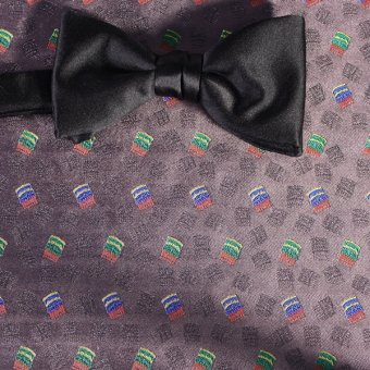 bow tie red, yellow, blue, brown, ruby-colored - patterned, design 200244