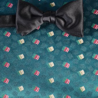 bow tie red, yellow, green, turquoise - patterned, design 200247