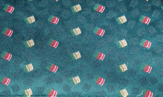 cummerbund red, yellow, green, turquoise - patterned, design 200247