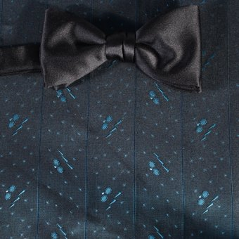 bow tie blue, navy blue, turquoise - tone in tone, design 200248