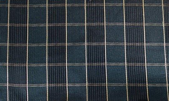 handkerchief gold, blue, navy blue - squares, design 200249