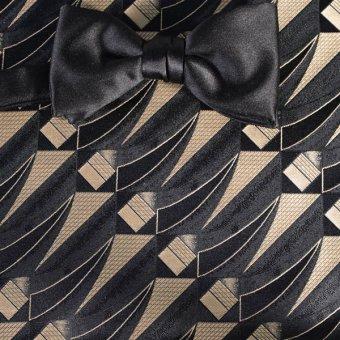 bow tie gold, black - patterned, design 200254