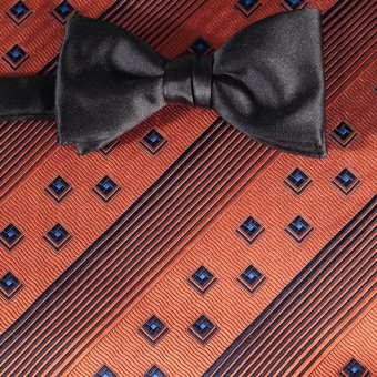 bow tie brown, grey - patterned, design 200266