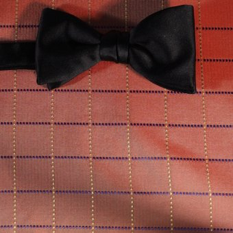 bow tie red, gold, black - squares, design 200268
