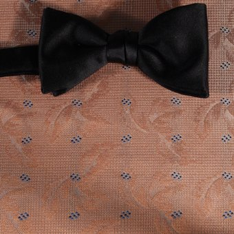 bow tie yellow, navy blue, orange - squares, design 200272