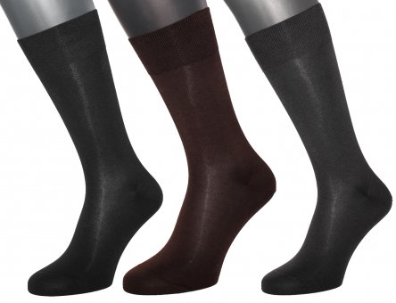 Men's elegant mid-calf business socks made of 98% cotton