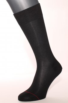 Men's Business silver-containing cotton socks black
